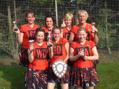 Solent 1 win the end-of-season open tournament. They are, back, from left, Kelly Ross, Jeannie Stone, Katia Siska and Chris Grimes and, front, Carly Marshall, Stacey Grimes and Belinda Rockall